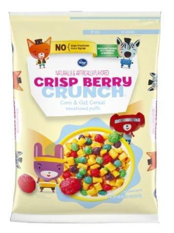 Cereal, Kroger® Berry Crunch Corn & Oat Cereal (28 oz Bag)