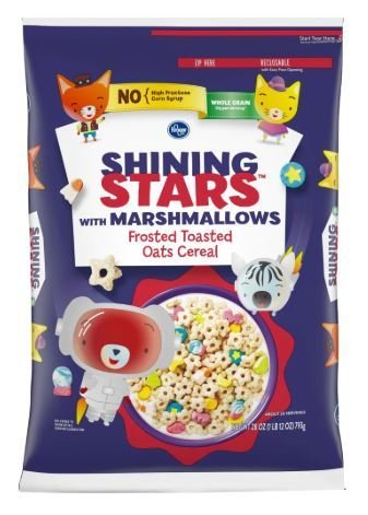 Cereal, Kroger® Shining Stars with Marshmallows Cereal (28 oz Bag)