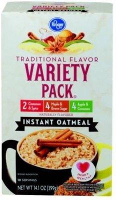 Hot Cereal, Kroger® Instant Oatmeal