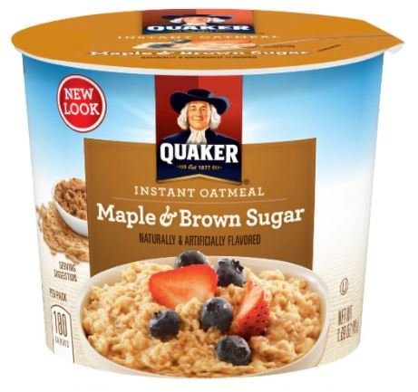 "Hot Cereal, Quaker Oats® Instant Oatmeal ""Maple & Brown Sugar"" (1.69 oz Cup)"