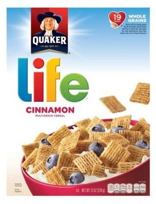 Cereal, Quaker Oats® Life® Cinnamon Cereal (13 oz Box)