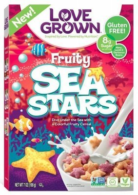Cereal, Love Grown® Fruity Sea Stars™ Cereal (7 oz Box)