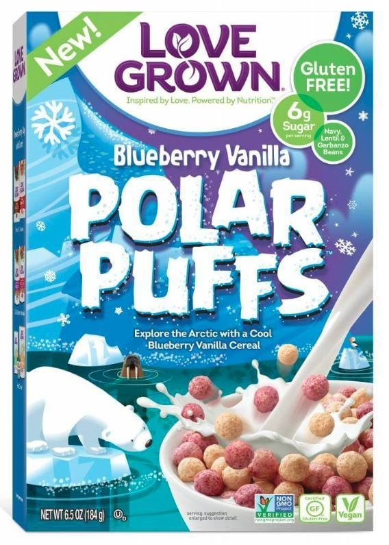 Cereal, Love Grown® Polar Puffs™ Cereal (6.5 oz Box)