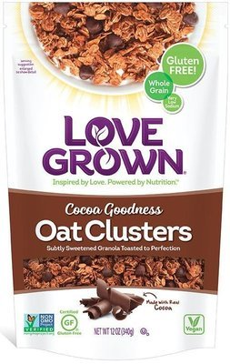 Granola Cereal, Love Grown® Oat Clusters™ Cocoa Goodness Granola (12 oz Bag)
