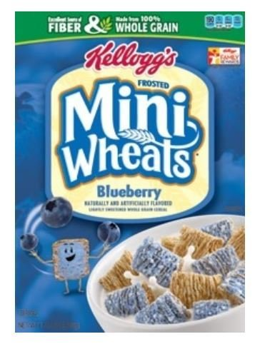 Cereal, Kellogg's® Frosted Mini-Wheats™ Blueberry Cereal (15.5 oz Box)