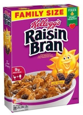 Cereal, Kellogg's® Raisin Bran™ Cereal (Family Size-23.5 oz Box)