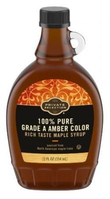 Pancake Syrup, Private Selection™ 100% Pure Grade A Amber Color Maple Syrup (12 oz Bottle)