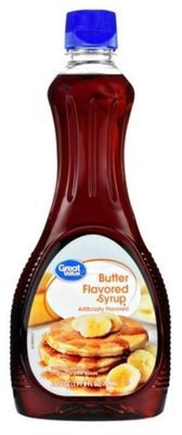 Pancake Syrup, Great Value® Butter Flavored Syrup (24 oz Bottle)