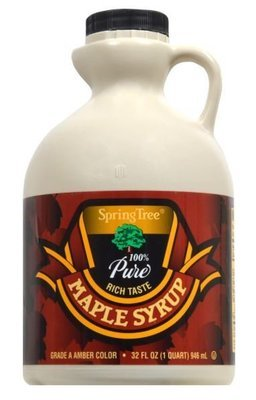 Pancake Syrup, Spring Tree® 100% Pure Maple Syrup (32 Oz Bottle)