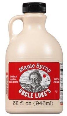 Pancake Syrup, Uncle Luke's® 100% Pure Maple Syrup (32 Oz Bottle)