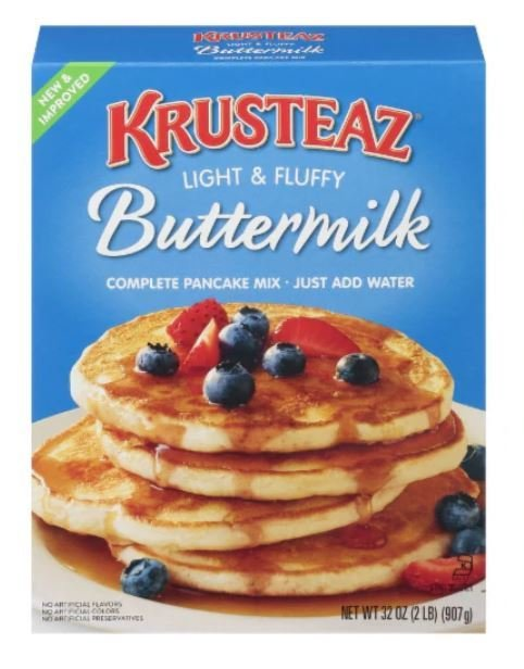 Pancake Mix, Krusteaz® Complete Light & Fluffy Buttermilk Pancake Mix (32 oz Box)