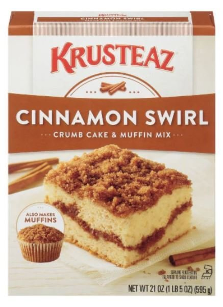 Muffin Mix, Krusteaz® Cinnamon Crumb Cake & Muffin Mix (21 oz Box)