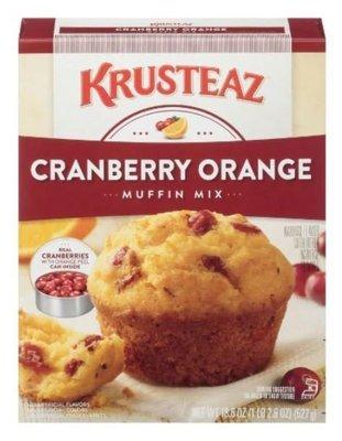 Muffin Mix, Krusteaz® Cranberry Orange Muffin Mix (18.6 oz Box)