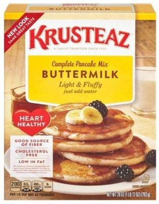 Pancake Mix, Krusteaz® Complete Heart Healthy Light & Fluffy Buttermilk Pancake Mix (25.2 oz Box)