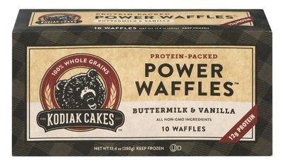 Frozen Waffles, Kodiak Cakes® Buttermilk & Vanilla Power Waffles (10 Count, 13.4 oz Box)