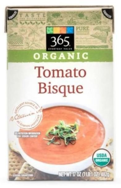 Boxed Organic Soup, 365® Organic Tomato Bisque Soup (17.3 oz Box)