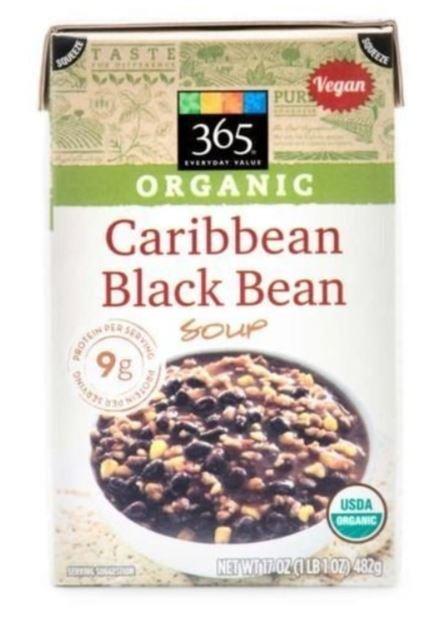 Boxed Organic Soup, 365® Organic Caribbean Black Bean Soup (17 oz Box)