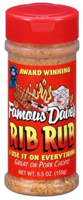 Seasonings, Famous Dave's® Rib Rub (5.5 oz Jar)