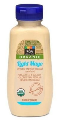 Organic Mayonnaise, 365® Organic Light Mayonnaise (Squeezable 11.2 oz Bottle)