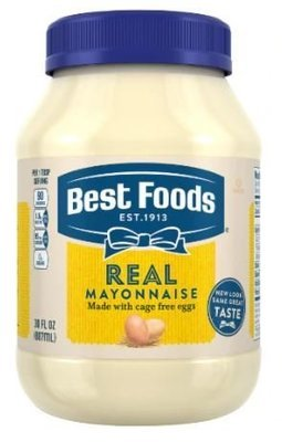 Mayonnaise, Best Foods® Real Mayonnaise (30 oz Jar)