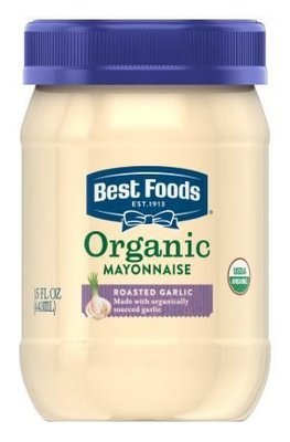 Organic Mayonnaise, Best Foods® Organic Roasted Garlic Mayonnaise (15 oz Jar)