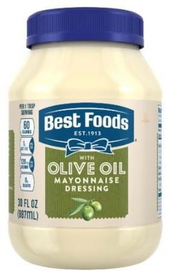 Olive Mayonnaise, Best Foods® Olive Oil Mayonnaise Dressing (30 oz Jar)