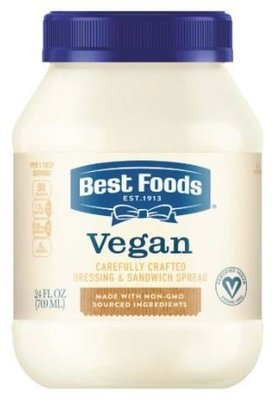 Vegan Mayonnaise, Best Foods® Vegan Mayonnaise Dressing (24 oz Jar)