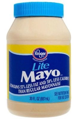 Light Mayonnaise, Kroger® Lite Mayo Mayonnaise (30 oz Jar)