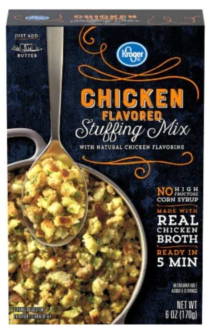Stuffing Bread, Kroger® Chicken Flavored Stuffing Mix (6 oz Box)