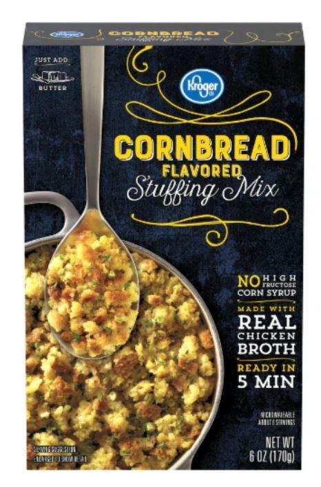 Stuffing Bread, Kroger® Corn Bread Flavored Stuffing Mix (6 oz Box)