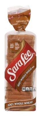 Loaf Bread, Sara Lee® 100% Whole Wheat Bread (20 oz Bag)