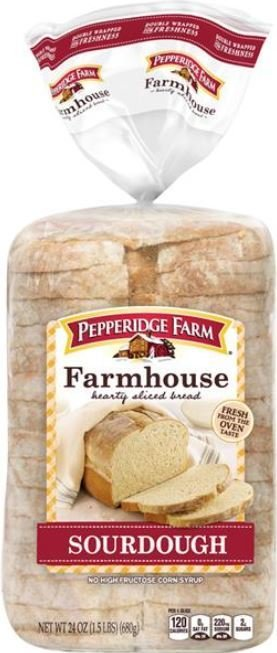 Loaf Bread, Pepperidge Farm® Farmhouse Sourdough Bread (24 oz Bag)