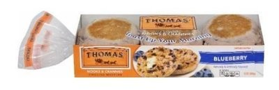 English Muffins, Thomas® Blueberry English Muffins (6 Count, 12 oz Bag)