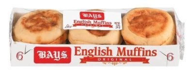 English Muffins, Bays® Original English Muffins (6 Count, 12 oz Bag)