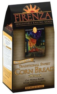 Corn Bread Mix, Firenza® Traditional Sweet Corn Bread Mix (15.5 oz Bag)