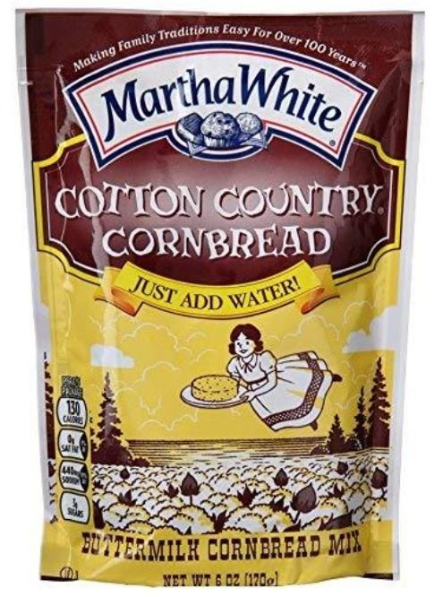 Corn Bread Mix, Martha White® Cotton Country Corn Bread & Muffin Mix (6 oz Bag)