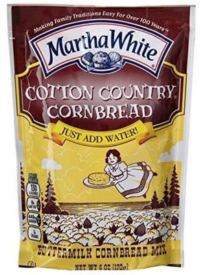Corn Bread Mix, Martha White® Cotton Country Corn Bread & Muffin Mix (6 oz Bag)