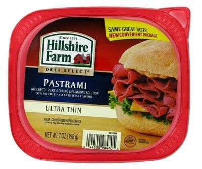 Sandwich Meat, Hillshire Farm® Pastrami (7 oz Resealable Tray)