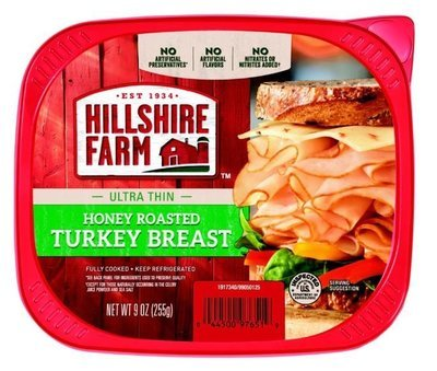 Turkey Deli Meat, Hillshire Farm® Honey Roasted Turkey (9 oz Resealable Tray)