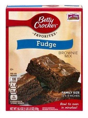 Brownie Mix, Betty Crocker® Fudge Brownie Mix (18.3 oz Box)