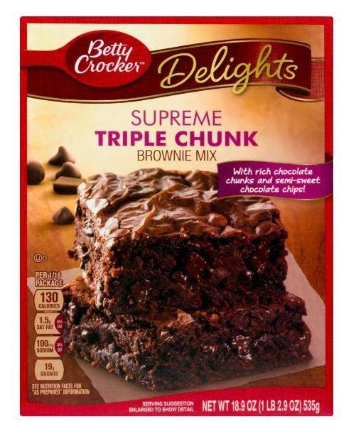 Brownie Mix, Betty Crocker® Triple Chunk Brownie Mix (21 oz Box)