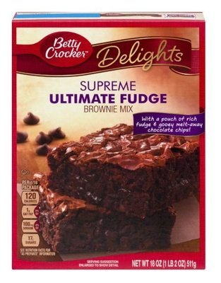 Brownie Mix, Betty Crocker® Ultimate Fudge Brownie Mix (19.1 oz Box)