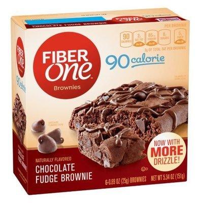 Brownies, Fiber One® 90 Calorie Chocolate Fudge Brownies (6 Count, 5.34 oz Box)