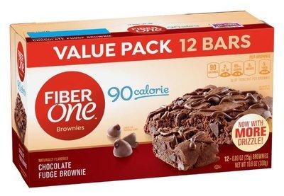 Brownies, Fiber One® 90 Calorie Chocolate Fudge Brownies (12 Count, 10.6 oz Box)