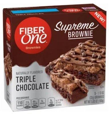 Brownies, Fiber One® Triple Chocolate Brownies (5 Count, 5.65 oz Box)