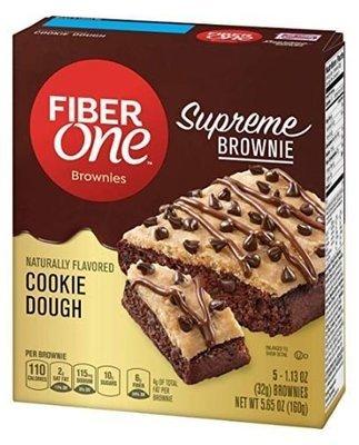 Brownies, Fiber One® Cookie Dough Brownies (5 Count, 5.65 oz Box)