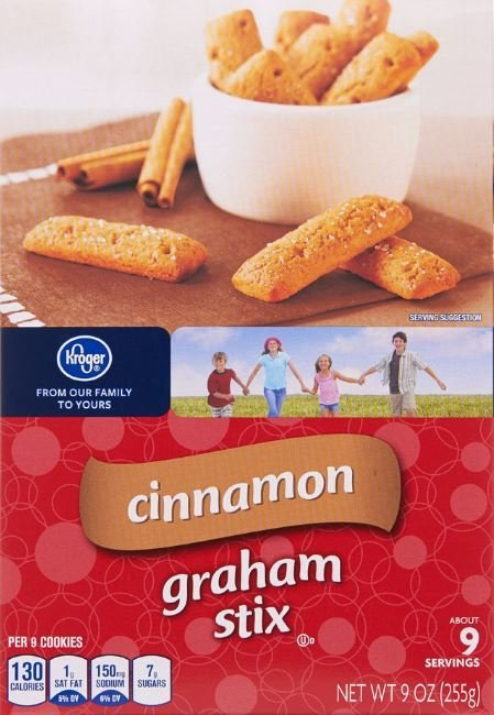 Graham Crackers, Kroger® Cinnamon Graham Stix Crackers (9 oz Box)