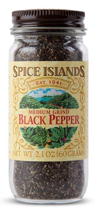 Seasonings, Spice Islands® Medium Grind Black Pepper (2.1 oz Jar)