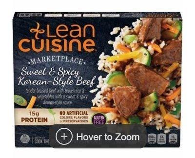 Frozen Dinner, Lean Cuisine® Marketplace™ Sweet & Spicy Korean-Style Beef (8.75 oz Box)