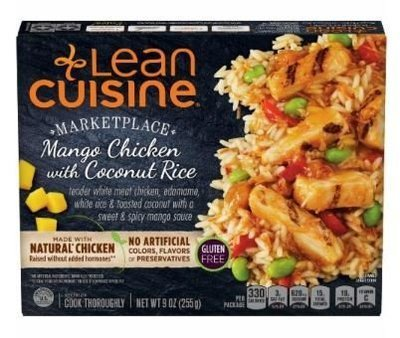 Frozen Dinner, Lean Cuisine® Marketplace™ Mango Chicken with Coconut Rice (9 oz Box)